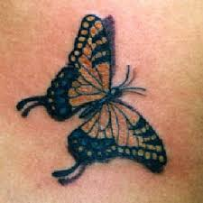 monarch butterfly with shadow tattooimages biz