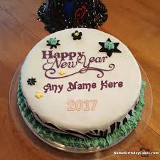 New Year Cake Decorations Ideas by Best New Years Eve 2017 Cake With Name Happy New Year 2017 Cakes