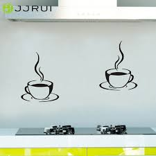 Wall Stickers For Kitchen by Aliexpress Com Buy 2 Coffee Cups Kitchen Wall Stickers Cafe