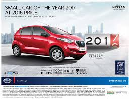 datsun benefits up to rs 24 000 on datsun redi go on price of year 2016