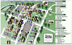 State College Map by Wesley College Campus Map 120 North State Street Dover Delaware