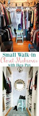 closet makeovers small walk in closet makeover reveal with ikea pax removable