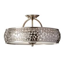 Ceiling Light Uk Feiss Zara Semi Flush Ceiling Light In Brushed Steel Fitting