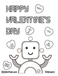 valentines activities for kids valentines day color pages pi