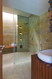 glass walls bathroom simple glass wall shower with white floor base and