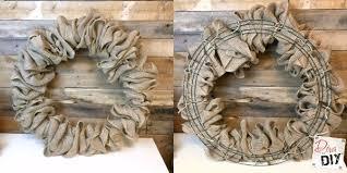 burlap wreaths make the burlap wreath hometalk