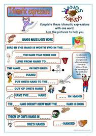 10 free esl idiomatic expressions worksheets