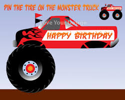 monster truck racing games free download pin the tire on the monster truck birthday party game instant