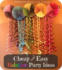 home design measure once cut twice rainbow party diy round
