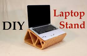 Laptop Desk With Speakers Make Your Own Laptop Stand Tutorial Diy