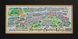 Georgia Southern Campus Map Birmingham Southern University Linda Theobald Art P O Box 6226