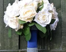 bridal bouquet holder table clip royal blue bouquet etsy