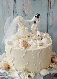 beachy wedding cakes seahorse wedding cake topper ivory seahorse wedding