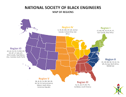 Map Of Central America And South America Regions National Society Of Black Engineers