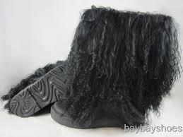 womens paw boots size 11 bearpaw boetis ii 2 11 boot black curly fur sheepskin us