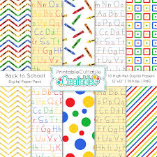 themed paper back to school themed high quality digital paper pack big
