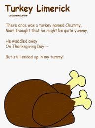 turkey limerick fall kid crafts language arts