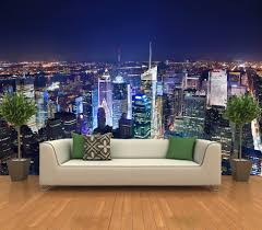 stick on wall mural apple blossom window open 1 piece l stick wall l and stick photo wall mural decor wallpapers new york skyline
