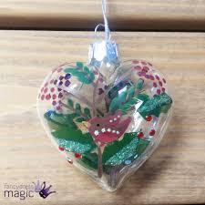 gisela graham glass robin glitter tree