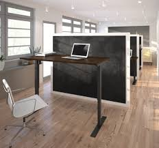 60 Office Desk 60 Office Desk In Chocolate Finish With Electric Height
