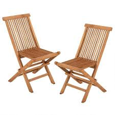 Wood Folding Chairs Berkshire Handcrafted Teak Wood Folding Chairs Set Of 2