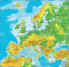 Map Austria Europe Physical Map Stock Vector Art 586204390 Istock