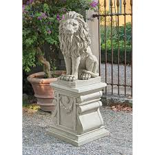 lion statues for sale design toscano mansfield manor left facing lion sentinel statue