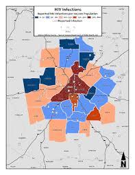 Metro Atlanta Map Hiv Infections U2013 Metro Counties U0026 Dot Density Metro Atlanta