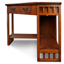 mission oak corner computer desk leick corner computer and writing desk mission oak finish best