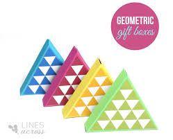 diy triangle gift boxes lines across
