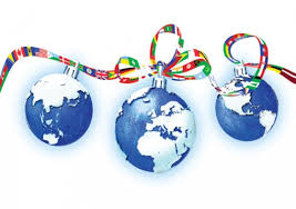 world christmas baubles of the world personalised christmas card the christmas