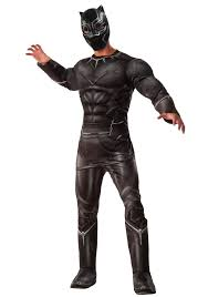 Premium Quality Halloween Costumes Marvel U0027s Captain America Civil War Deluxe Mens Black Panther