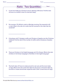 ratio word problems worksheets