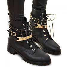 womens combat style boots target wholesale stylish lace up design s black studded combat