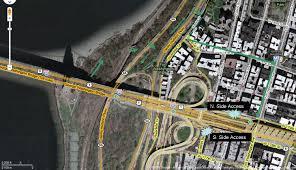Nyc Bike Map Mapped Hudson River Greenway To The George Washington Bridge