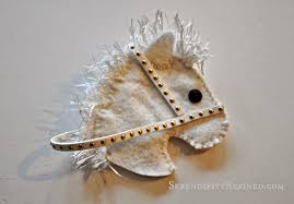 serendipity refined blog no sew felt horse head candy cane cover