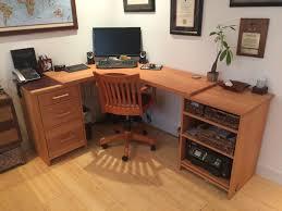 Corner Desk Beech Beech Corner Desk Custom Wood Extras