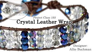 leather crystal bracelet images Crystal leather wrap bracelet tutorial jpg