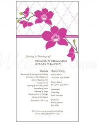 ceremony programs template printable tropical orchid program template