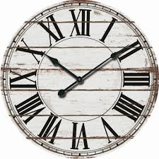 decorative wall clock white wood pallet oversized 24
