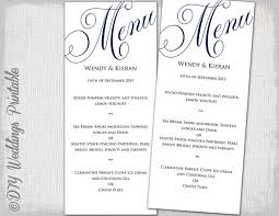 editable menu template wedding menu template navy blue wedding menu diy wedding menu