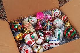 ornaments in cardboard box stock image image 31759151