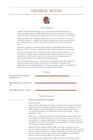 regional operations manager resume samples visualcv resume