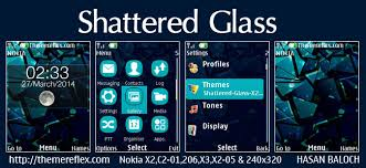 nokia c2 01 themes with tones shattered glass live theme for nokia x2 00 x2 02 x2 05 x3 00 c2