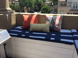 double outdoor standard patio bench cushion outdoor cushions at