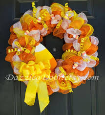 corn deco mesh wreath 65 on etsy by dazzleadoor