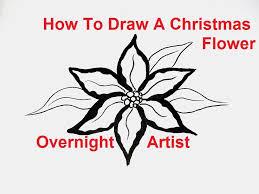 draw flowers draw christmas flower