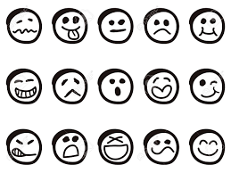 doodle emoticon isolated doodle smiley faces on white background royalty