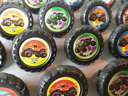 grave digger monster truck party supplies 24 monster jam rings cupcake toppers cake birthday party favors