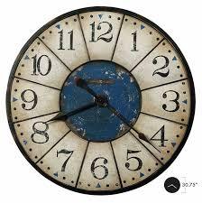 large wall clock 625567 balto howard miller oversized vintage worn blue dial wall clock